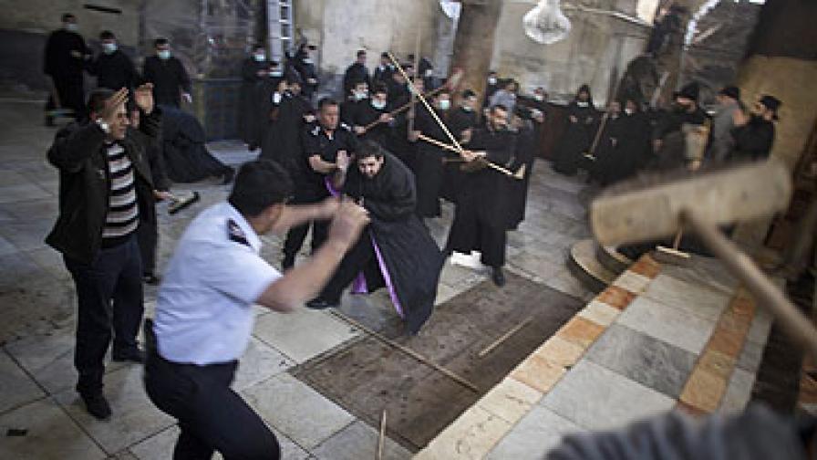 Бой на монаси във Витлеем