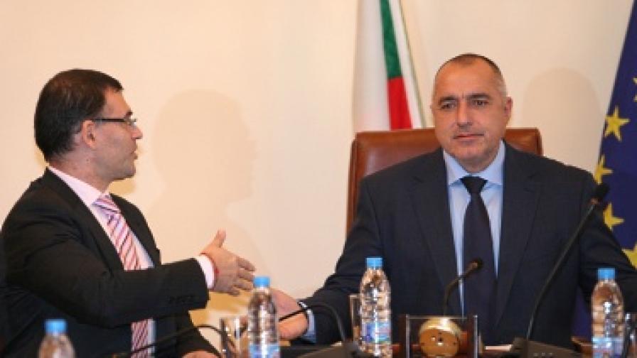 Симеон Дянков и Бойко Борисов на вчерашното заседание на МС