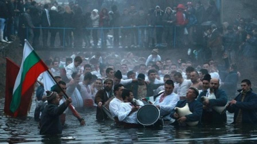 Масов бой за кръста в Благоевград