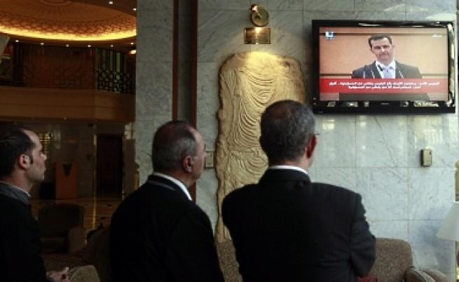 Сега Асад обвини външни сили за насилието в Сирия