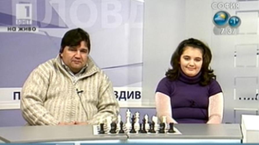 Виктория и Славей Радеви в пловдивското студио на БНТ