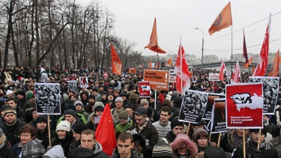 В Москва се надяват студът да стресне демонстрантите