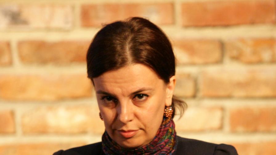 """Мирослава Тодорова на церемонията по връчване на наградите """"Човек на годината"""" 2011, награди на Български хелзинкски комитет за принос към правата на човека и правозащитността"""