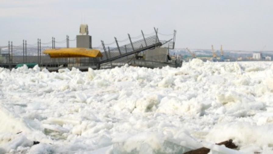 Поражения върху пристанището на Силистра от ледохода