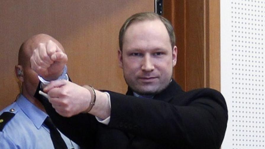 Брайвик официално обвинен в тероризъм