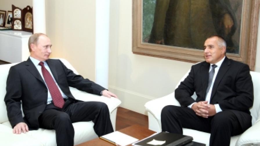 Бойко Борисов разговаря с Владимир Путин