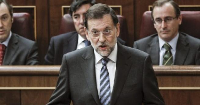 С вот на недоверие в испанския парламент днес премиерът Мариано