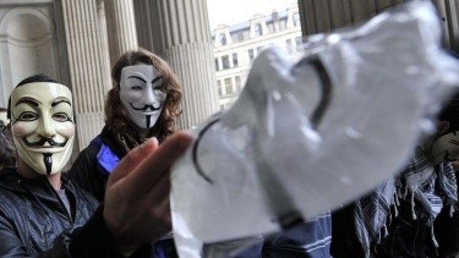 """Член на """"Анонимните"""" задържан при операция на ГДБОП"""