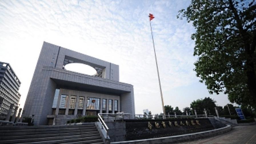 Сградата на съда в Хефей, където се гледа делото срещу Гу