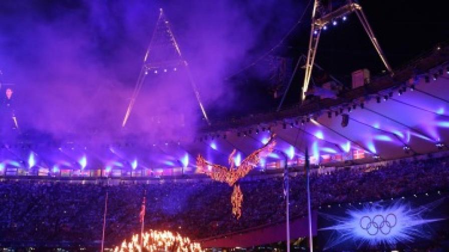 Кадър от закриването на олимпиадата