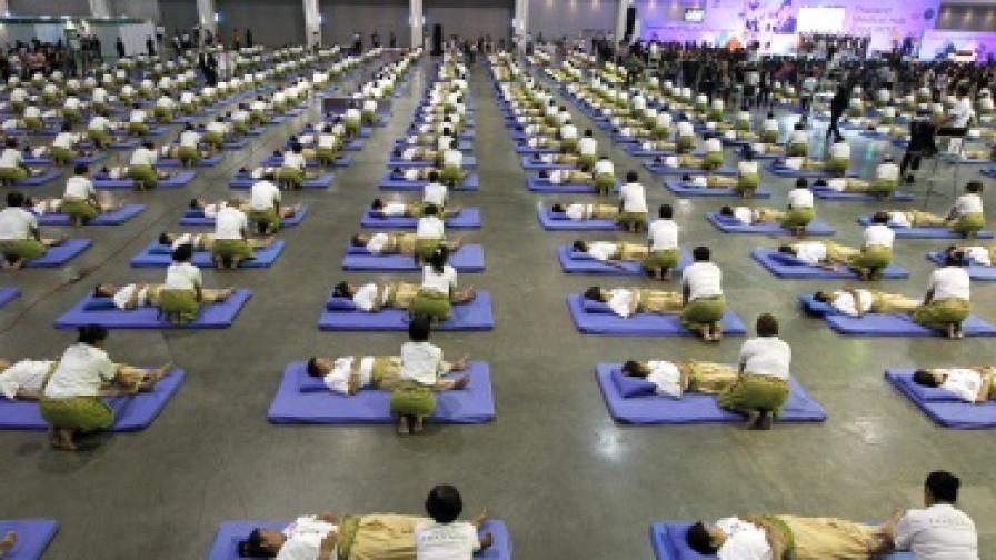 Нов рекорд по масов масаж