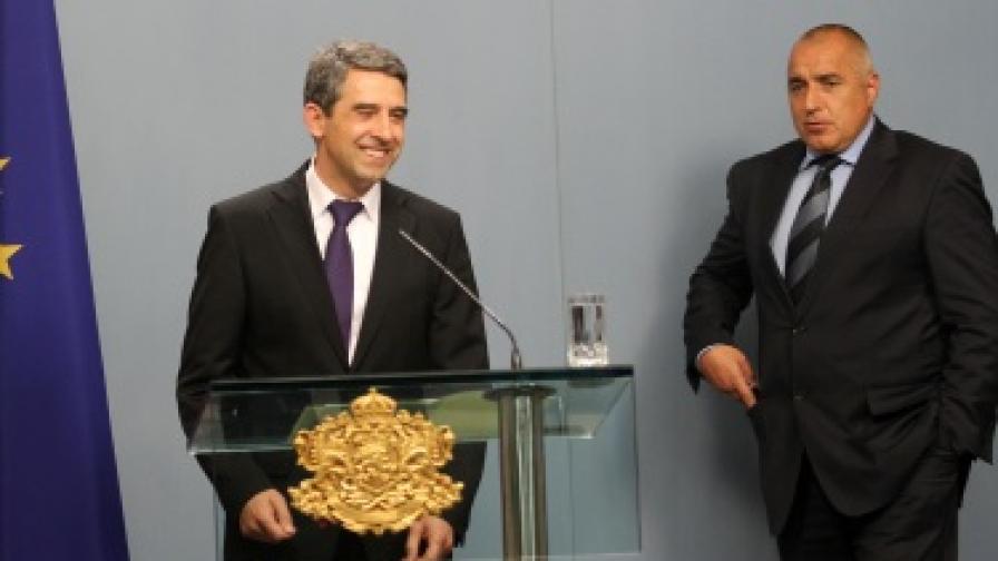 Президентът Росен Плевнелиев и премиерът Бойко Борисов