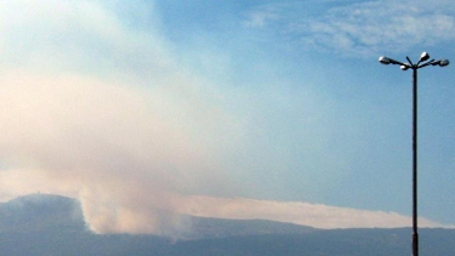 Нов пожар гори на Витоша