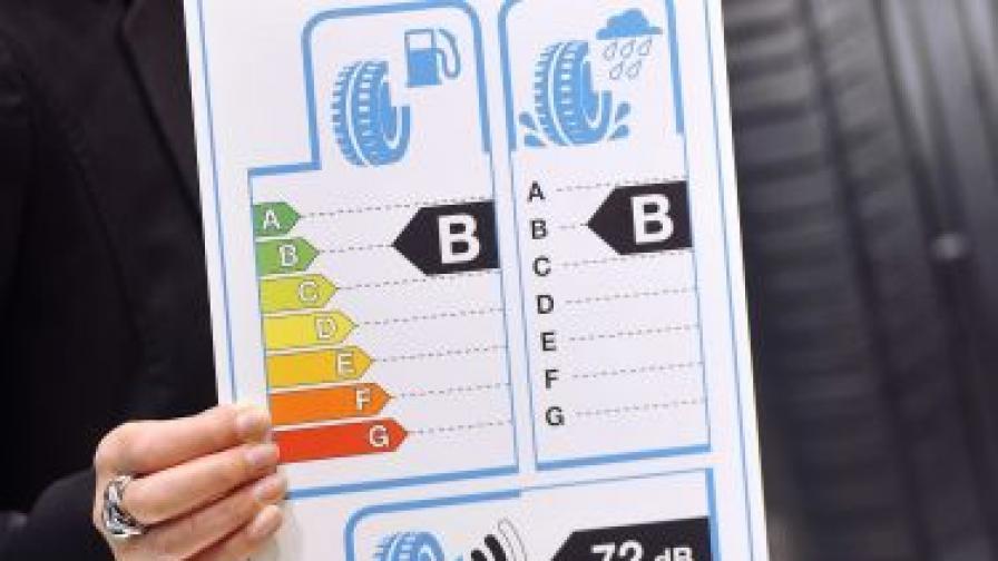 От днес - и автомобилните гуми с етикети