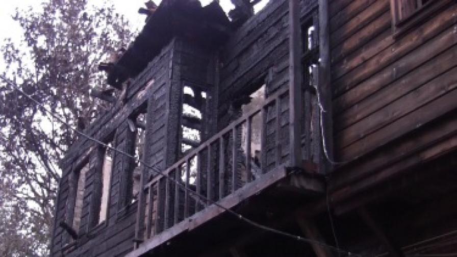 Изгорялата къща в Созопол