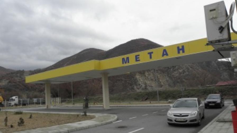 Метан станцията край Симитли