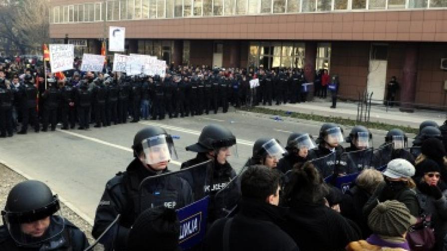 Сблъсъци в Македония, най-малко 17 ранени