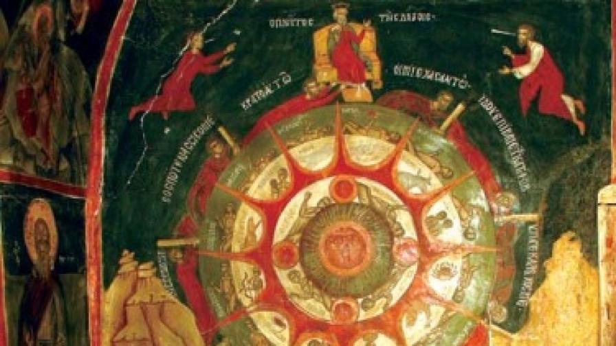 """Композицията """"Колелото на живота"""" в храма"""