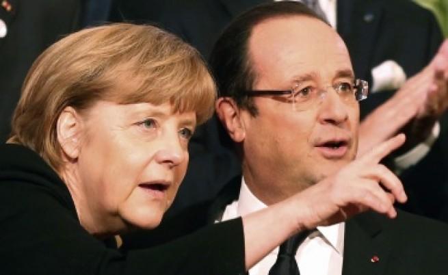 Изненадваща визита на Меркел и Оланд в Киев