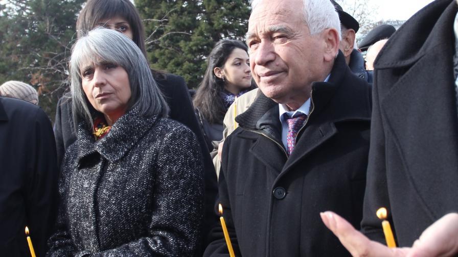 Маргарита Попова и Желю Желев на днешното честване