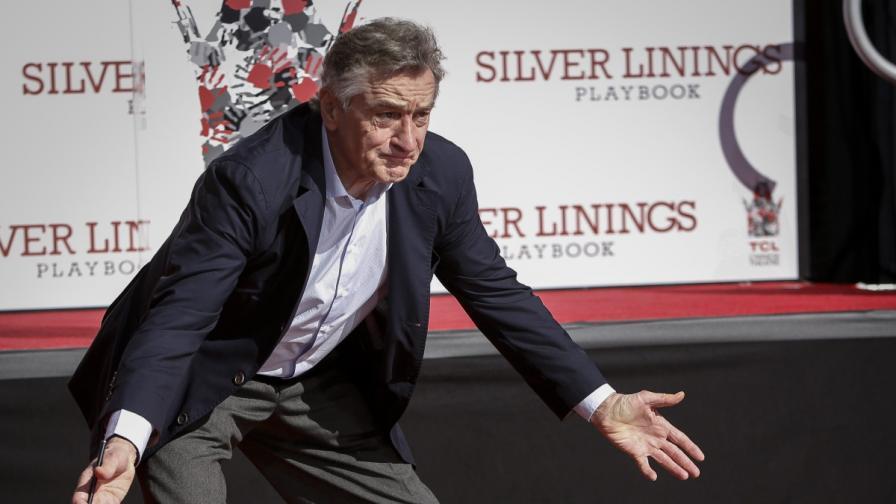 Робърт де Ниро бетонира мястото си в Холивуд