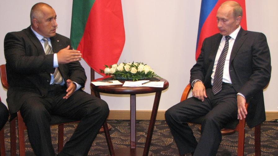 Бойко Борисов разговаря в Гданск през 2009 г. с Владимир Путин. В полския град Гданск министър-председателят Бойко Борисов участва в мероприятията по повод 70-та годишнина от началото на Втората световна война