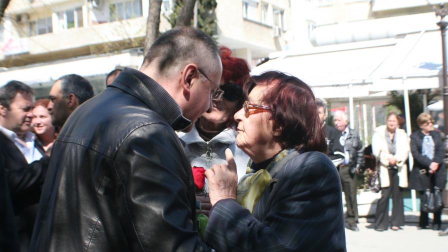Сергей Станишев по време на посещението му в Стара Загора
