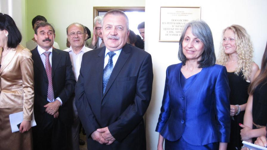М. Попова откри Център по българистика в Киевския университет