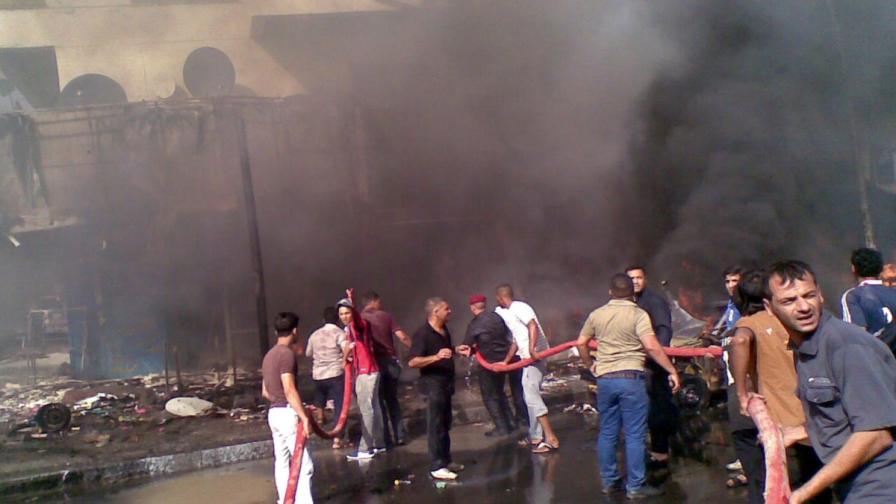 Над 50 загинали при серия атентати в Багдад