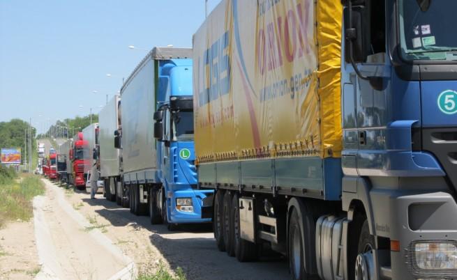 Представители на малки и средни превозвачи блокираха Капитан Андреево