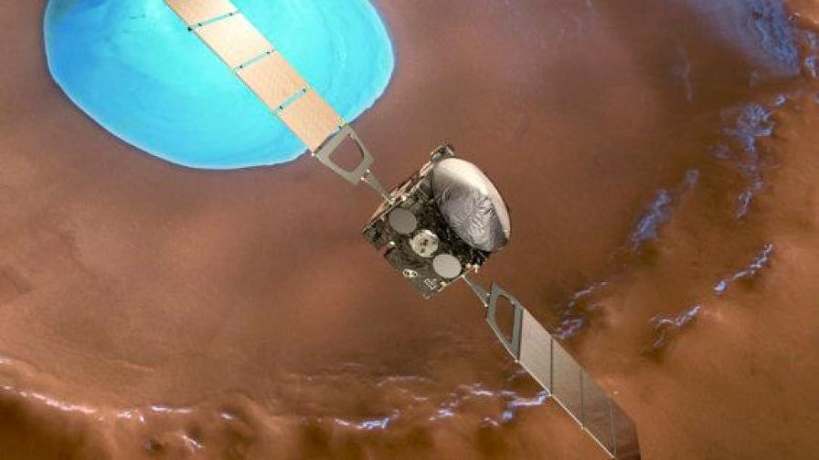 """""""Марс експрес"""" чества 10 години изследвания"""