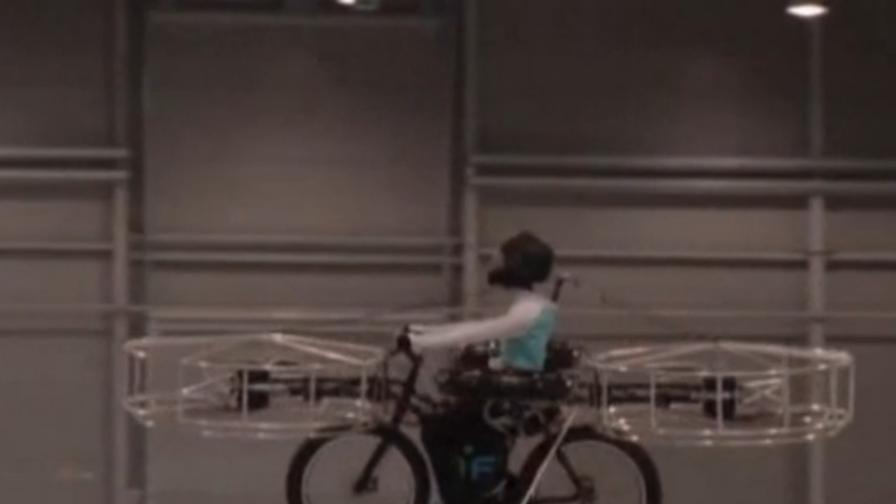 Чехи изобретиха летящ електрически велосипед