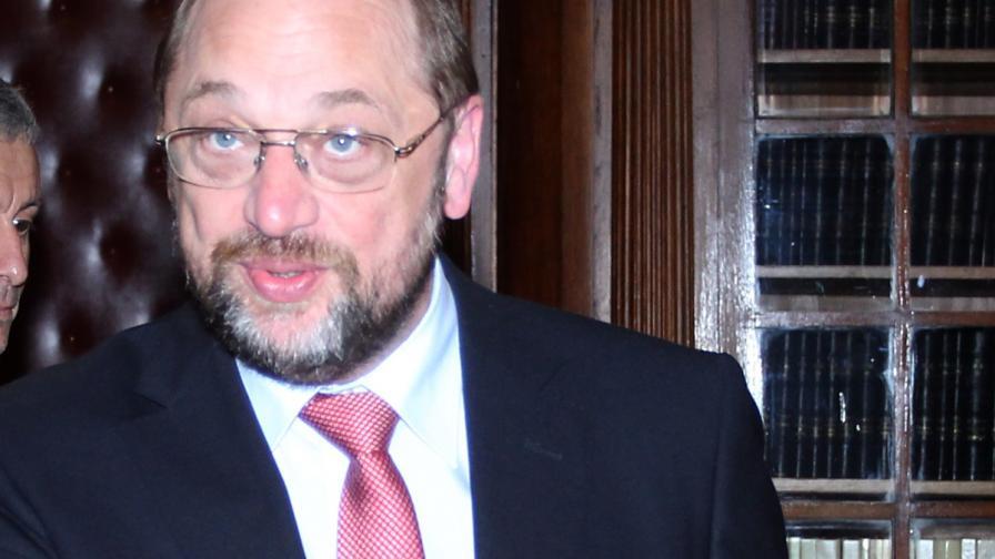 Председателят на ЕП Мартин Шулц идва на 22 юни