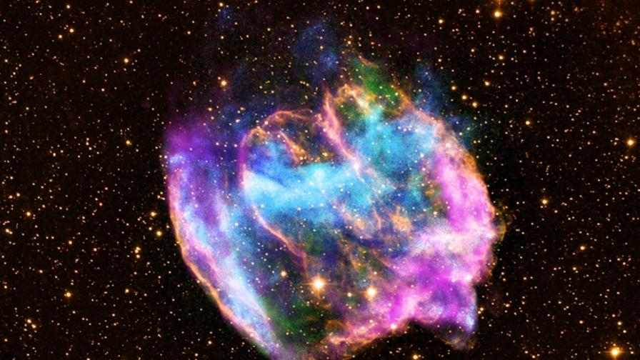 Златото на Земята се е появило при сблъсък на мъртви звезди