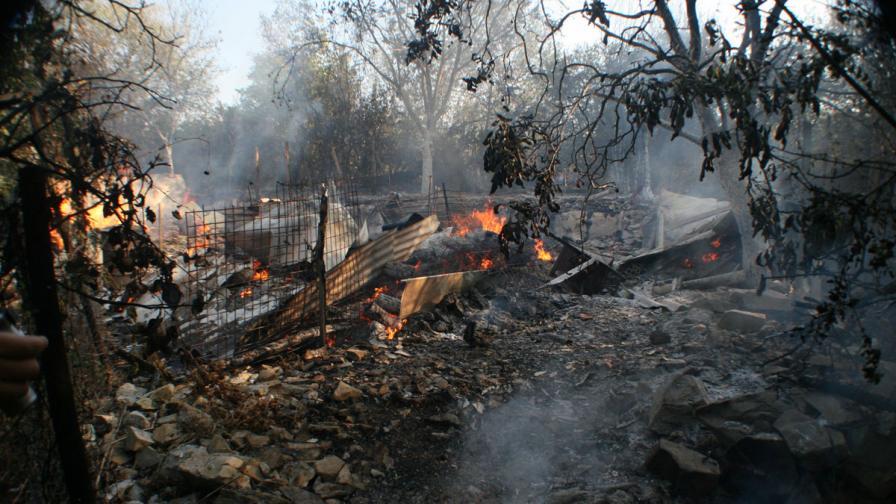 Постройки и животни изгоряха във вилна зона в Стара Загора