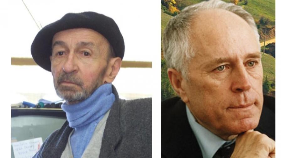 Борис Димовски (1925-2007) - (л); Николай Хайтов (1919-2002)