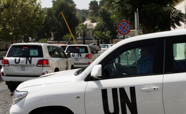 Снайперисти стреляха по експертите на ООН в Сирия