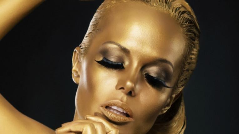 злато маска лице красота мигли