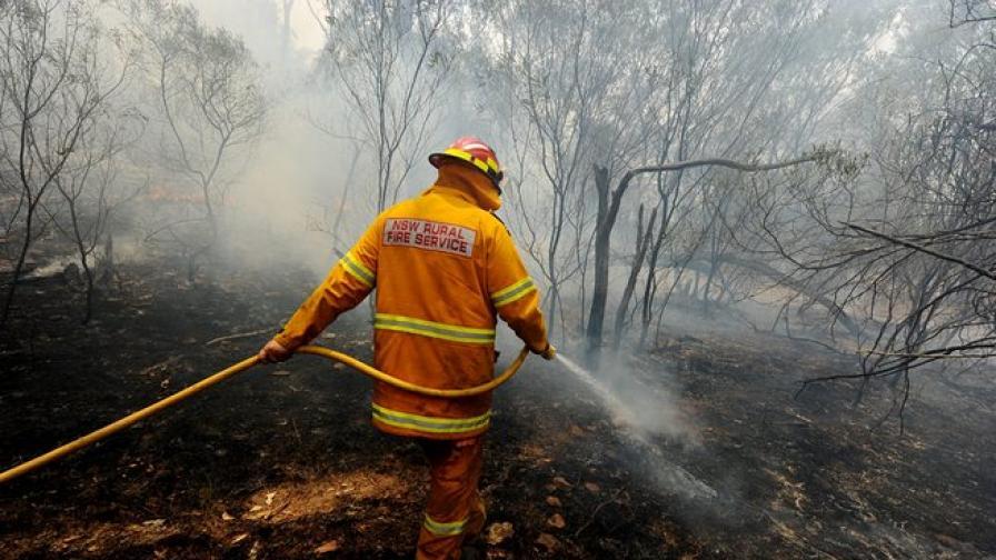 Десетки горски пожари в Австралия