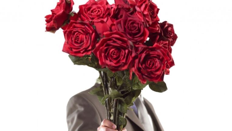 рози цветя букет среща