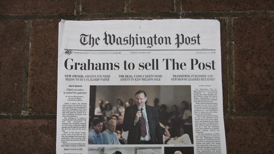 """""""Вашингтон пост"""" мина в ръцете на основателя на """"Амазон"""""""