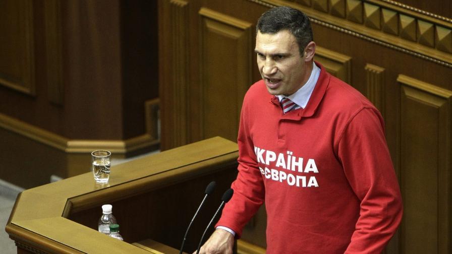 Виталий Кличко заяви официално, че ще се кандидатира за президент на Украйна
