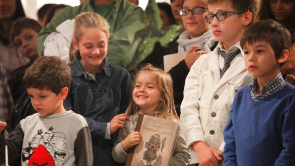 """Най-доволни от представянето на книгата """"Приказка за вълшебната флейта"""" останаха децата"""