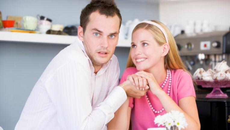мъж жена двойка закуска