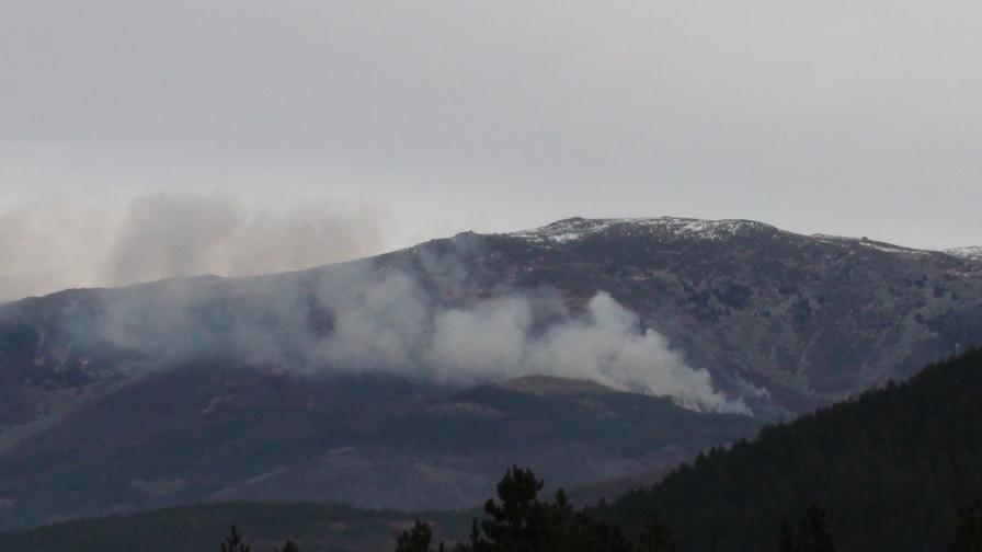 Пожар гори на Витоша