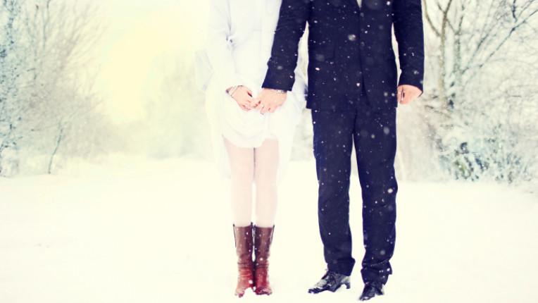 зима студ любов сняг